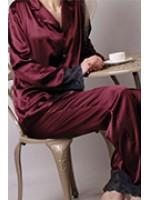 Женские шелковые пижамы и ночнушки