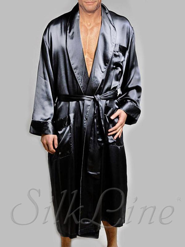 2e1b42b79024 Шелковый мужской халат из шелка с доставкой по Киеву Арт. SL3303