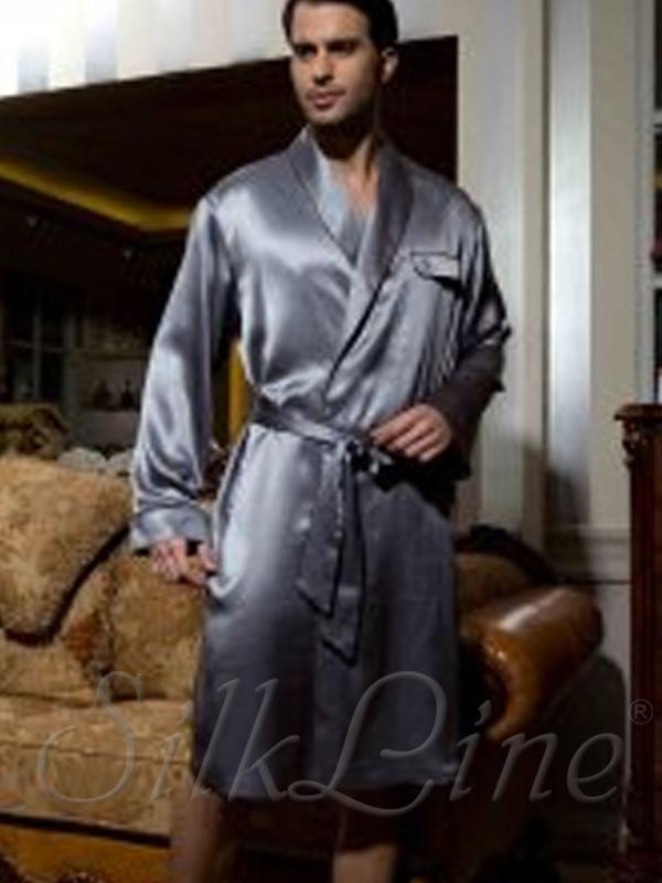 f3025bbf2701 Купить шелковый мужской халат из шелка с доставкой Арт.: SL3203