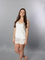 Піжама шорти і майка SL-15 (Білий)