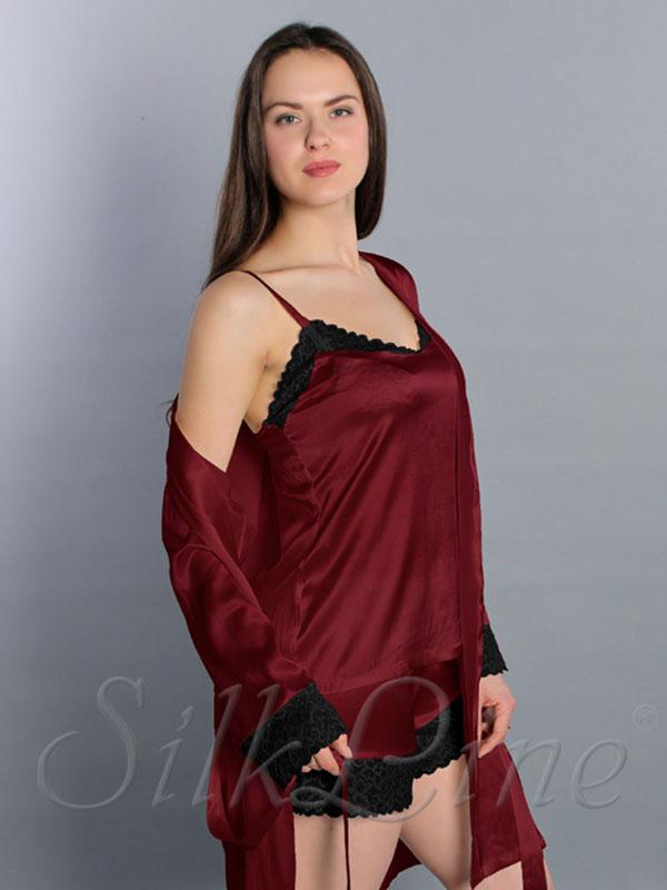 Шелковая пижама женская марсала. Доставка по Киеву и Украине 4bb26641120e6