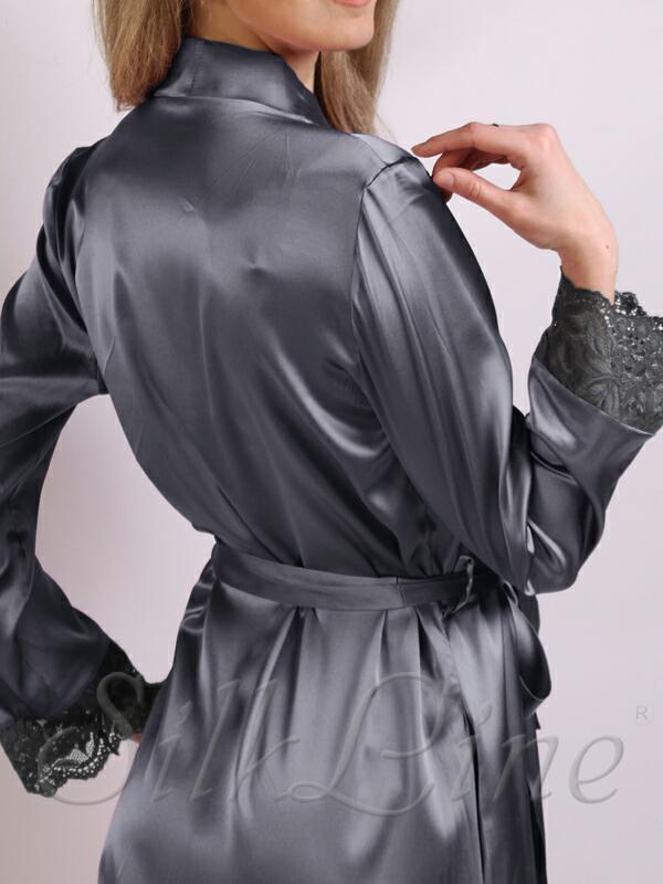 Шелковый халат короткий SL-1-07