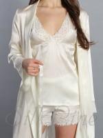 Пижама шорты и майка SL-16 (Кремовый)