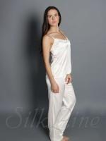 Пижама майка и штаны SL-18 (Белый)