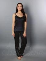 Пижама майка и штаны SL-18 (Черный)