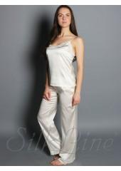 Пижама майка и штаны SL-18 (Кремовый) р.М