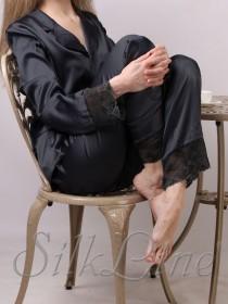 Пижама рубашка и штаны SL-19 (Черный)