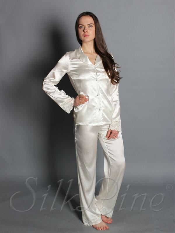 Купить шелковую пижаму с брюками с доставкой по Киеву. Арт.SL1902 e59f23f769a82