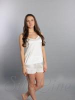 Пижама шорты и майка SL-23 (Белый)