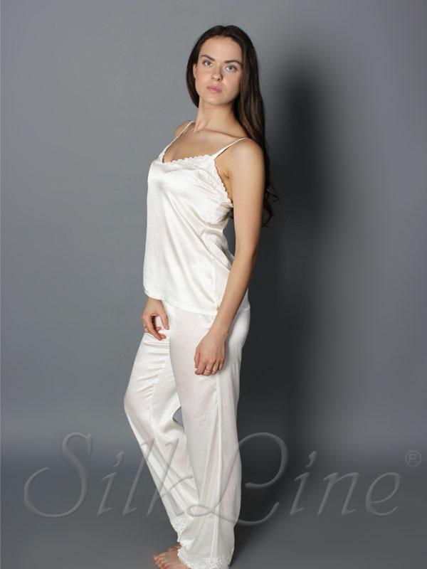 Пижама майка и штаны SL-24 (Белый)