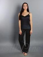 Пижама майка и штаны SL-24 (Черный)
