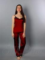 Пижама майка и штаны SL-24 (Марсала)