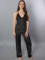 Пижама майка и штаны SL-28 (Черный)
