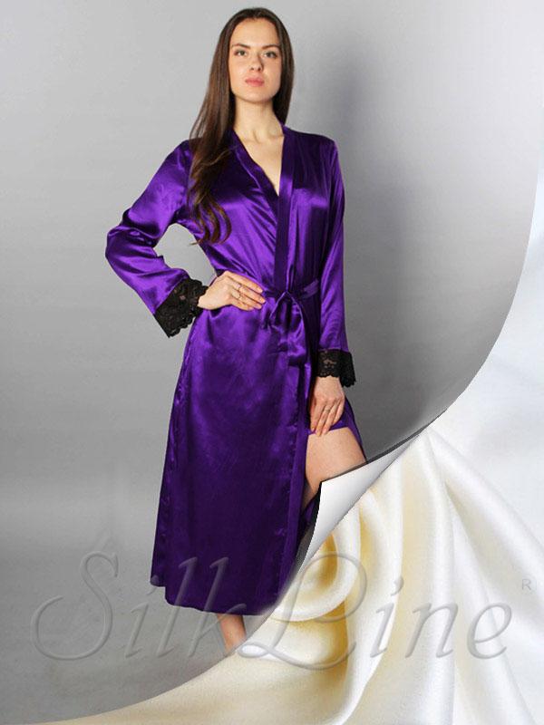 Купити халат з натурального шовку недорого з доставкою Арт SL702 9ed910bcbe96a