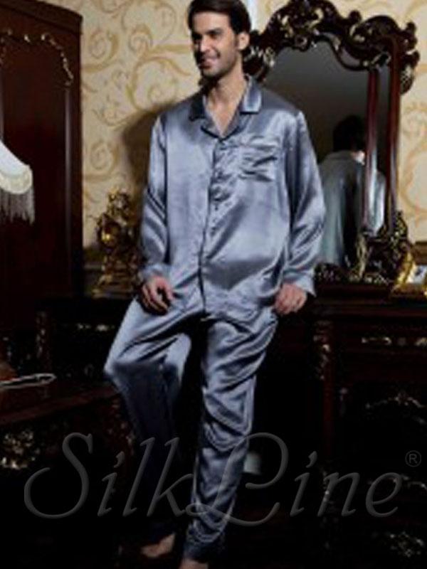 Мужская пижама шелковая SL-34