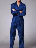 Піжама сорочка і штани SL-34 (Темно-синій)