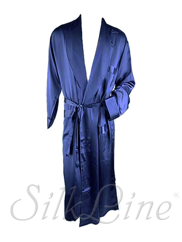 Шовковый халат довгий SL-33