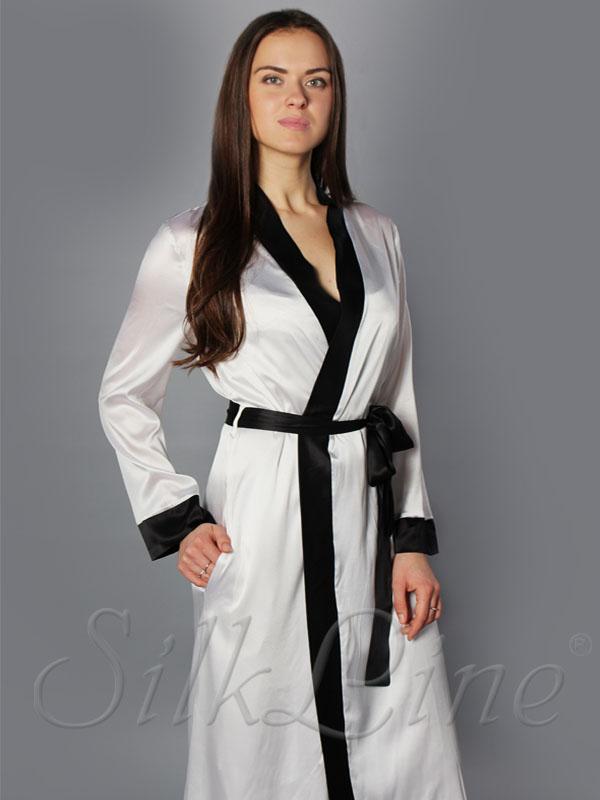 Шелковый халат длинный SL-13