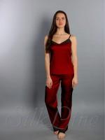 Пижама майка и штаны SL-18 (Марсала)