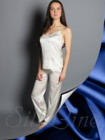 Пижама майка и штаны SL-18 (Темно-синий)