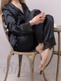 Піжама рубашка і штани SL-19 (Чорний)