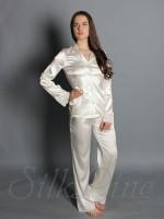 Пижама рубашка и штаны SL-19 (Кремовый)