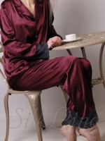 Пижама рубашка и штаны SL-19 (Марсала)