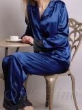 Піжама рубашка і штани SL-19 (Темно-синій)