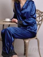Пижама рубашка и штаны SL-19 (Темно-синий)