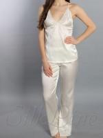 Пижама майка и штаны SL-28 (Кремовый)
