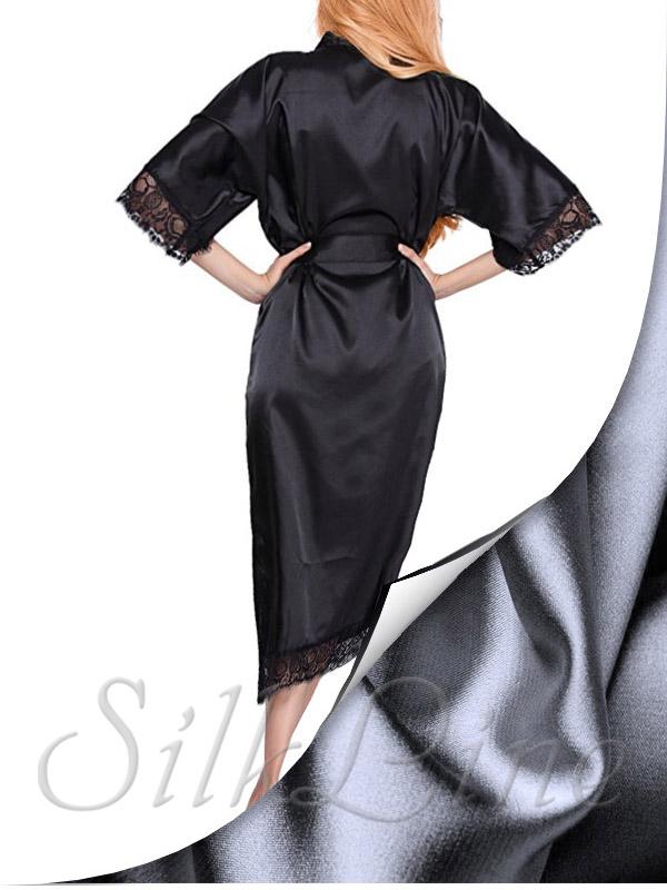 Шелковый халат миди SL-8